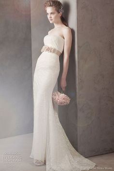 """Perfect for a small intimate type of wedding; or if your style is """"The Minimalist""""  This is the wedding dress that I bought & never wore. So beautiful...Vera Wang."""