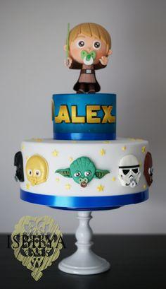 Tarta de Star Wars para el segundo cumpleaños de Alex