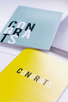 Free Set of 3 Printable Congrats Cards | Design Eat Repeat