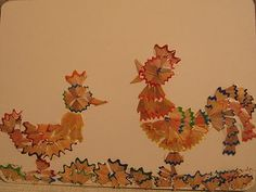 pencil shaving chickens Crafts on March 8, at home and in the kindergarten