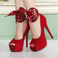 Modern & Fashionable Fish Mouth High-heeled Shoes----Red