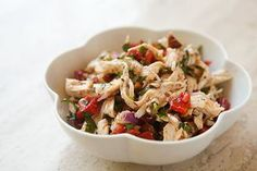Sunday Supper...Chicken Salad with Roasted Red Peppers and Almonds