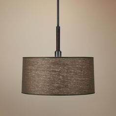 Robert Abbey Adaire Truffle Linen Shade Pendant Light | LampsPlus.com  Blue room