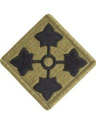 NSN: 8455-01-647-6592 (UNIT PATCH, 4TH INFANTRY DIVISION (4ID), MULTICAM / OCP) - ArmyProperty.com