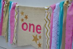 TWINKLE LITTLE STAR banner star highchair banner by EmmyJCreations