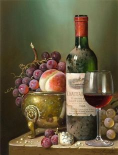 Unique Wine Totes & Carriers and Wine Accessories, click now for Personalized Wine Gifts, Cheese Boards, Glasses & Wine Decanters. Wine Painting, Fruit Painting, Still Life Photos, Still Life Art, Fruit Photography, Life Photography, Mago Tattoo, Warm Wine, Paint And Drink