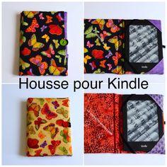 Housse pour Kindle, le tuto... - La chouette bricole Kindle, Diy Couture, Presents, Sewing, Cover, Crafts, Accessories, Journals, Ideas