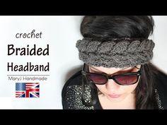 Crochet tutorial: braided headband - YouTube