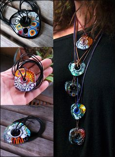 Soul Fire // Contemporary Necklace // Murano Glass Jewelry // Born in the Fire // 3 dimensional Art to wear