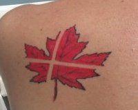 Danish Canadian flags