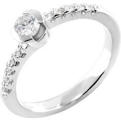 Prsten, belo zlato, brilijanti