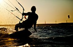 .. learn to kite surf ..