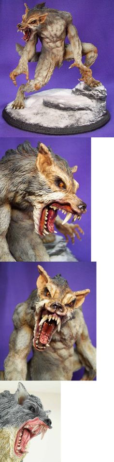 Other Models and Kits 774: Werewolf Resin Model Kit Bad Moon Rising Unbuilt -> BUY IT NOW ONLY: $165 on eBay!