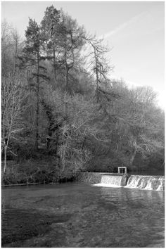 The River Lathkill tumbling over the weir, the waters attract the trout fishermen,but those trout are hard to spot with their camouflage. Trout, Landscape Photography, Amethyst, Country Roads, River, Wall, Image, Landscape Photos, Rivers