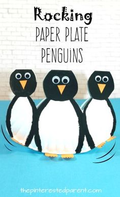 Rocking Paper Plate Penguins with printable template look like they are waddling. Winter arts and  sc 1 st  Pinterest & Paper Cup Penguin Craft | Penguin craft Penguins and Cups