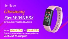 All fans attention on Iotton Latest Color Display Fitness Tracker Giveaway. Waterproof Fitness Tracker, Latest Colour, Giveaway, Fans, Product Description, Display, Bracelet, Color, Floor Space