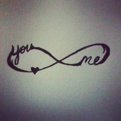 Cute infinity tattoo
