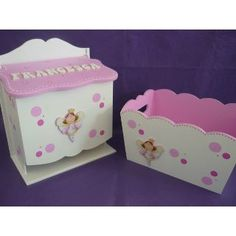 pañaleras en mdf pintadas - Buscar con Google Wooden Toy Boxes, Wooden Toys, Decoupage Wood, Kit Bebe, Toy Chest, Baby Shower Gifts, Kids Room, Decorative Boxes, Wall Decor