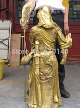 K@@AA@39 China famous Brass Copper Dragon Hold Sword Guan Gong Guan Yu warrior Statue //Price: $US $3514.35 & Up to 18% Cashback on Orders. //     #homedecor