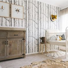 63 Rustic Baby Boy Nursery Room Design Ideas - About-Ruth Baby Boy Rooms, Baby Boy Nurseries, Kids Rooms, Nursery Themes, Nursery Room, Nursery Ideas, Wall Paper Nursery, Room Ideias, Kindergarten Wallpaper