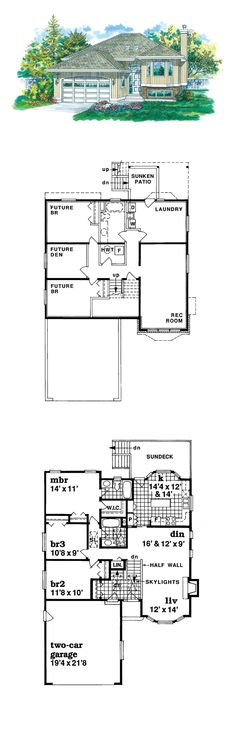 1000 images about split level house plans on pinterest for Coolhouseplans com