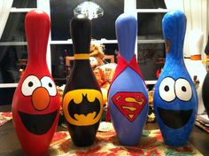 Bowling pin friends
