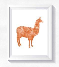 80%OFF Llama print lama wall art llama watercolorllama wall