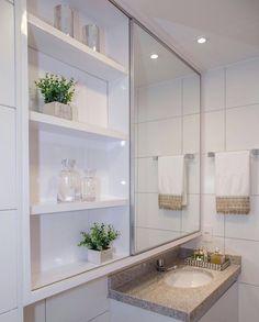 37 The Ways to Add Plants in the Bathroom Trap – homedecorsdesign Bathroom Design Small, Bathroom Colors, Bathroom Interior Design, Modern Bathroom, Bathroom Ideas, Small Toilet, White Vanity, Deco Design, Luxury Kitchens