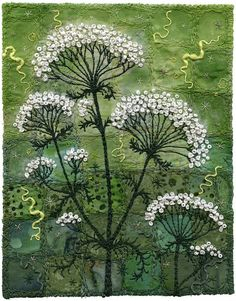 Yarrow by Kirsten's Fabric Art, via Flickr