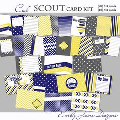 Project Life Inspired CubScout Card by EmilyJaneDesignsInc on Etsy