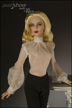 """JAMIEshow READY TO WEAR 2014  """"Provocateur"""" Body Suit Blouse Black or White"""