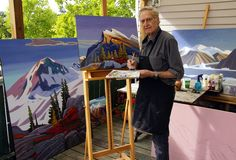 In the Studio with Prominent Canadian Landscape painter Nicholas Bott