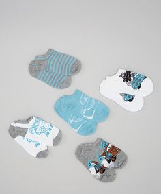 Little motorists will have the fastest feet around thanks to everyone's favorite cars! These soft and stretchy socks boast playful graphics and bold prints for high-speed adventuring.