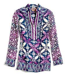 Daria Silk Tunic | Womens Tunics | ToryBurch.com