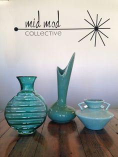 Glass and ceramic accessories. Now Available now at Mid Mod Collective. Email midmodcollective@gmail.com for more info.