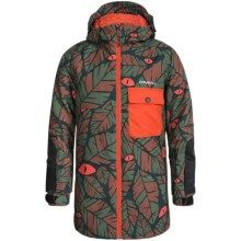 O'Neill Kicker Ski Jacket - Waterproof, Insulated (For Little and Big Boys) in Green Aop - Closeouts