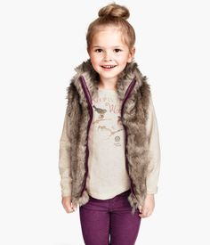 kids Faux Fur Vest -- Product Detail | H&M US