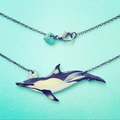 My brand new Common Dolphin gloss necklace just went like in my etsy shop. This charm of course also comes with the option to donate to the incredible Dolphin Project. Spear-headed by Ric O'Barry, this organisation is working tirelessly to end the annual dolphin slaughter in Taiji. If you haven't already seen The Cove, I would recommend it to anyone who cares about the ocean. Such an essential watch.