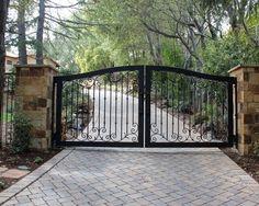 ornate metal driveway gate