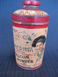Vintage talc tin