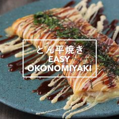 japanese foods Okonomiyaki- Japanese stuffed and rolled omelet. Tasty Videos, Food Videos, Asian Recipes, Healthy Recipes, Healthy Food, Diy Food, Love Food, Food To Make, Food Porn