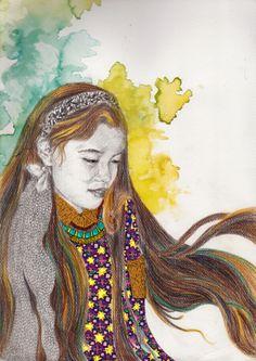 La Gioconda by Astri II Princess Zelda, Disney Princess, Disney Characters, Fictional Characters, Art, Water Colors, Art Background, Kunst, Performing Arts