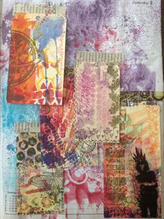 Dylusions stencils, dina wakley stamps, urban stamps, tags, hand made sprays and stencils, hand made washi tapes, acrylic paint....