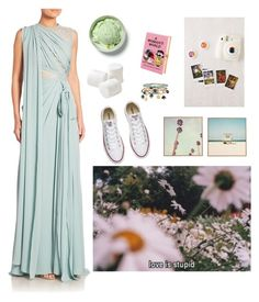"""Leisure time is the best thing ever."" by violetvv on Polyvore featuring KEEP ME, Accessorize, Elie Saab, Olympia Le-Tan, Urban Outfitters, DENY Designs and Converse"