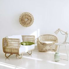 Rattan furniture will lead us to have vintage room decoration. However, you may use it for modern room decor as well. It deals with rattan is easy material that easy to be shaped in various style. So, it will blend and look cohesive with other furniture. Wicker Furniture, Shabby Chic Furniture, Rattan Armchair, Decor, Bamboo Furniture, Furniture, Furnishings, Home Furniture, Minimalist Home Decor