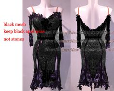 ** for uhngry **tailor Made #L3958 dance dress black color without stones #newplanner