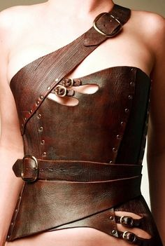 Really unusually styled corset from antiseptic leather accessories corset