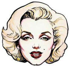 @PinFantasy - Marilyn drawing - ✯ http://www.pinterest.com/PinFantasy/gente-~-marilyn-monroe-art/