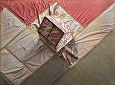 """Graziano Pompili, """"Paesaggio cispadano"""", tecnica mista su tavola, cm 140x170x52, dal catalogo della mostra """"Novanta artisti per una bandiera"""", ©2013 corsiero editore"""