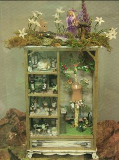 Beneath the Forest Floor Display Cabinet By Rosemary Shipman
